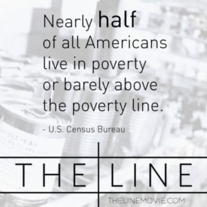 Nearly half of all Americans live in poverty or barely above the poverty line.