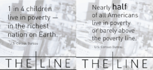 1 in 4 childrend live in poverty - in the richest nation on Earth. Nearly half of all Americans live in poverty or barely above the poverty line.