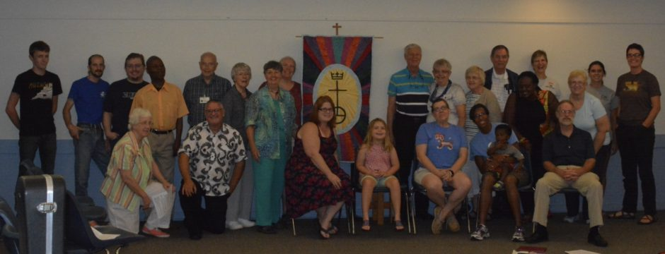 After worship on August 21...well most of us who gathered